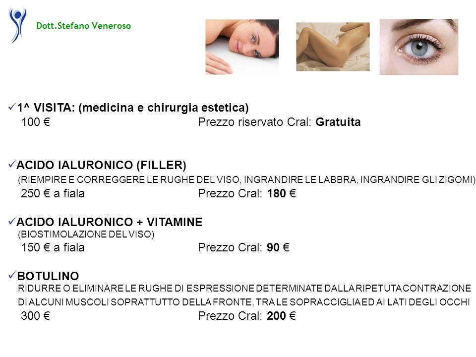 1^ VISITA: (medicina e chirurgia estetica)