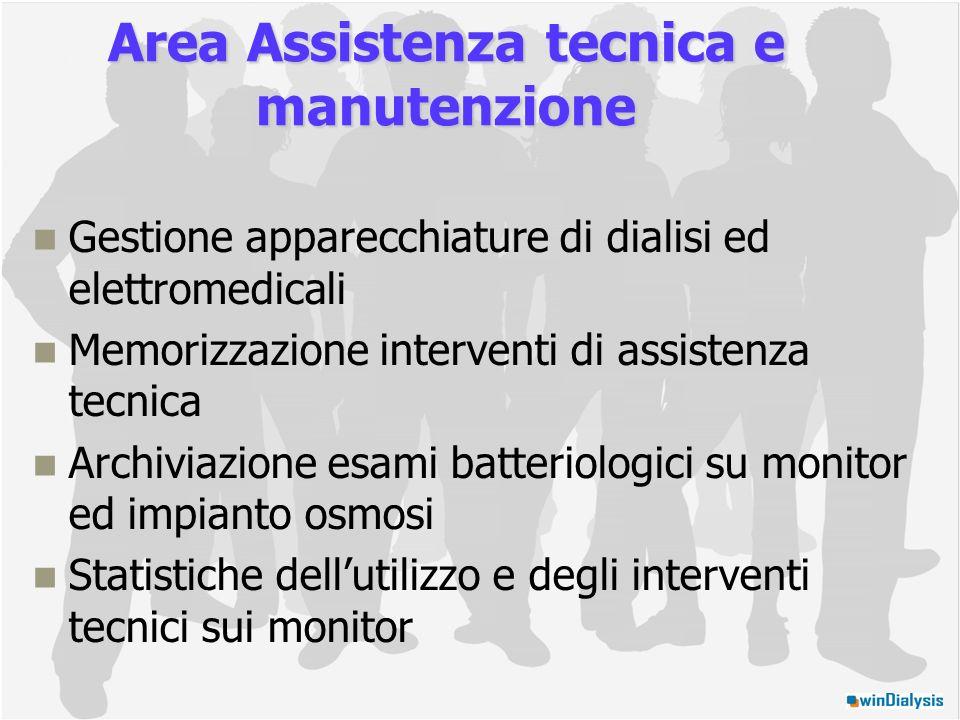 Area Assistenza tecnica e manutenzione