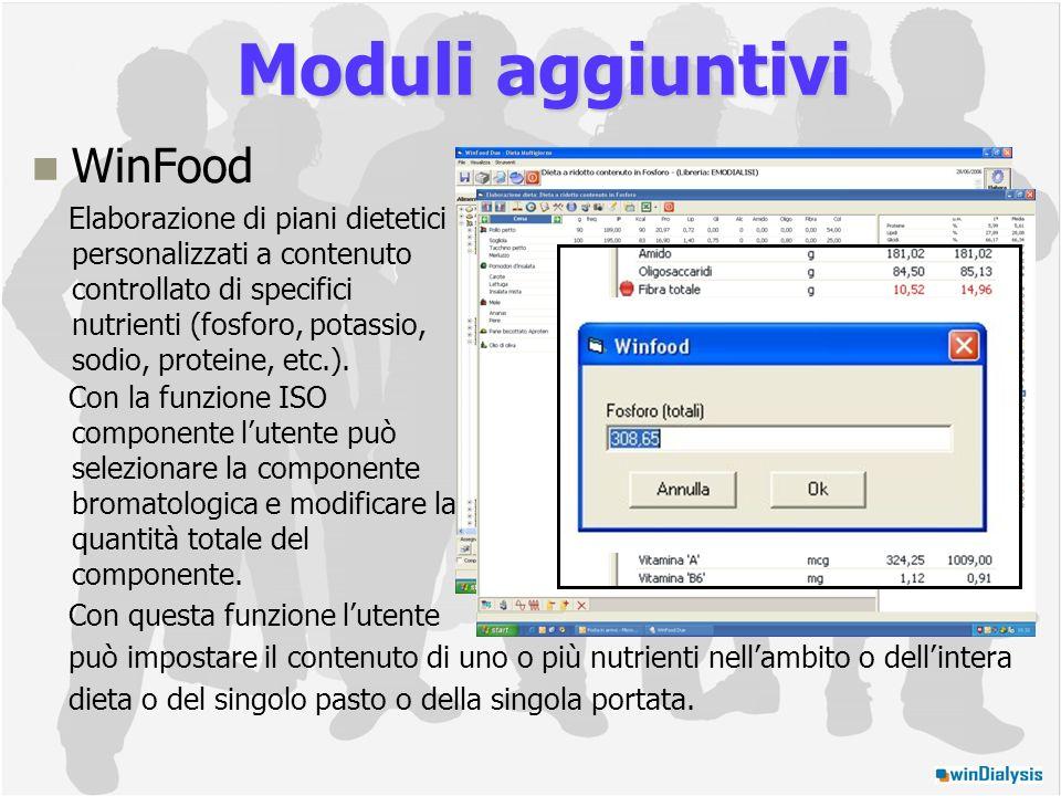 Moduli aggiuntivi WinFood