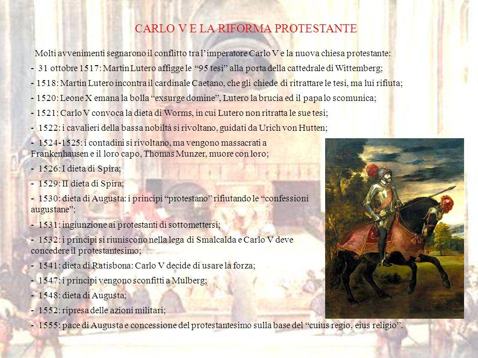CARLO V E LA RIFORMA PROTESTANTE