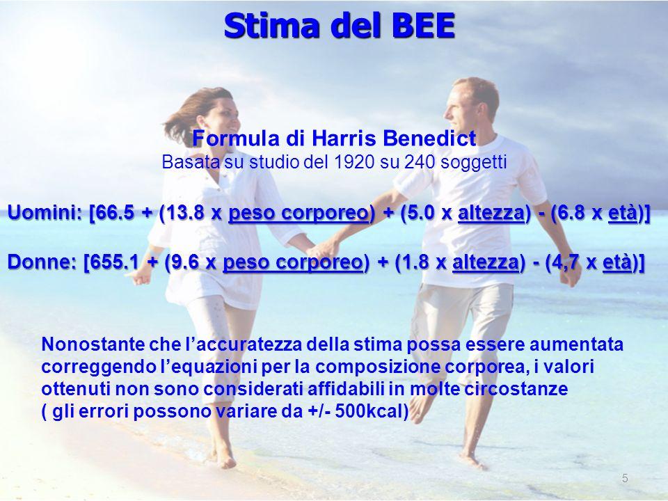 Formula di Harris Benedict