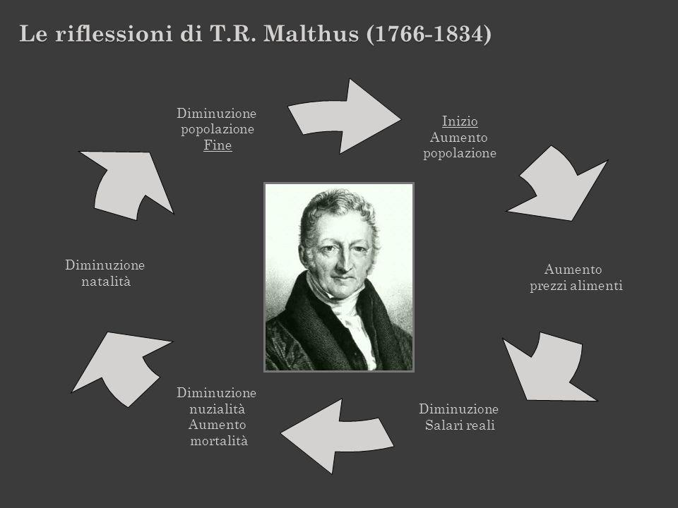 Le riflessioni di T.R. Malthus (1766-1834)