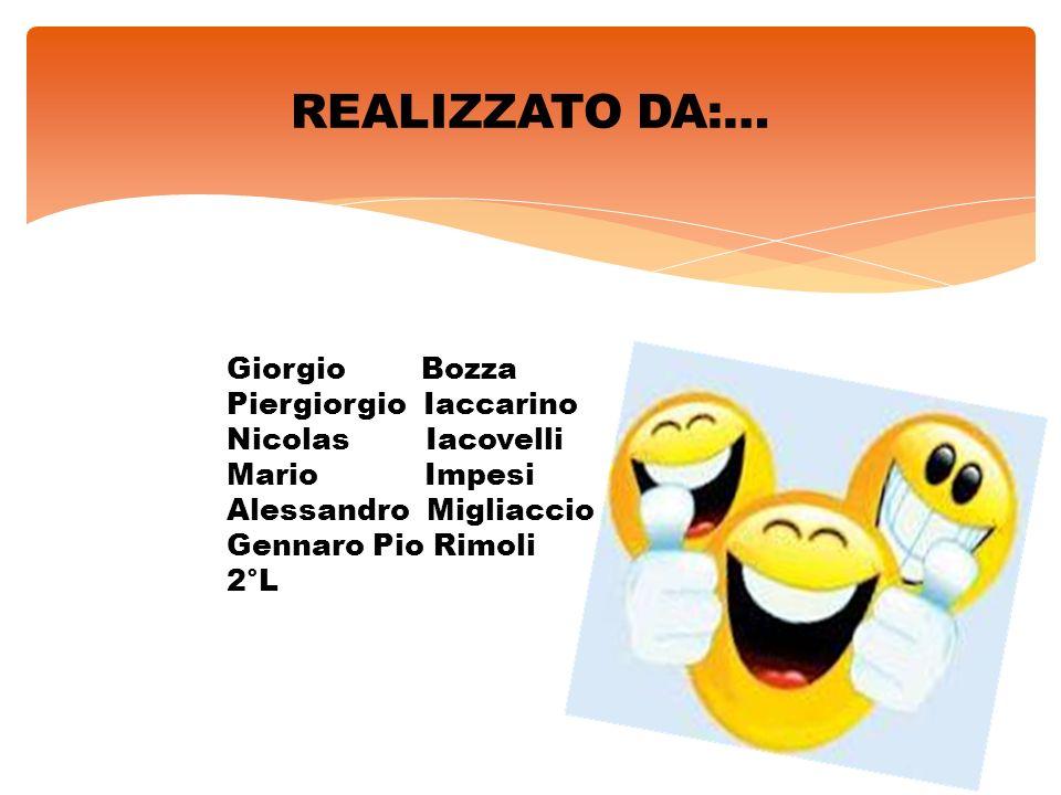 REALIZZATO DA:… Giorgio Bozza Piergiorgio Iaccarino Nicolas Iacovelli