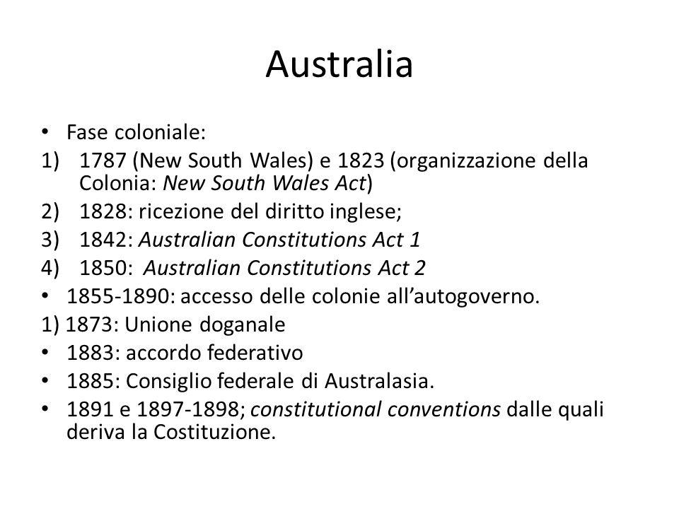 Australia Fase coloniale: