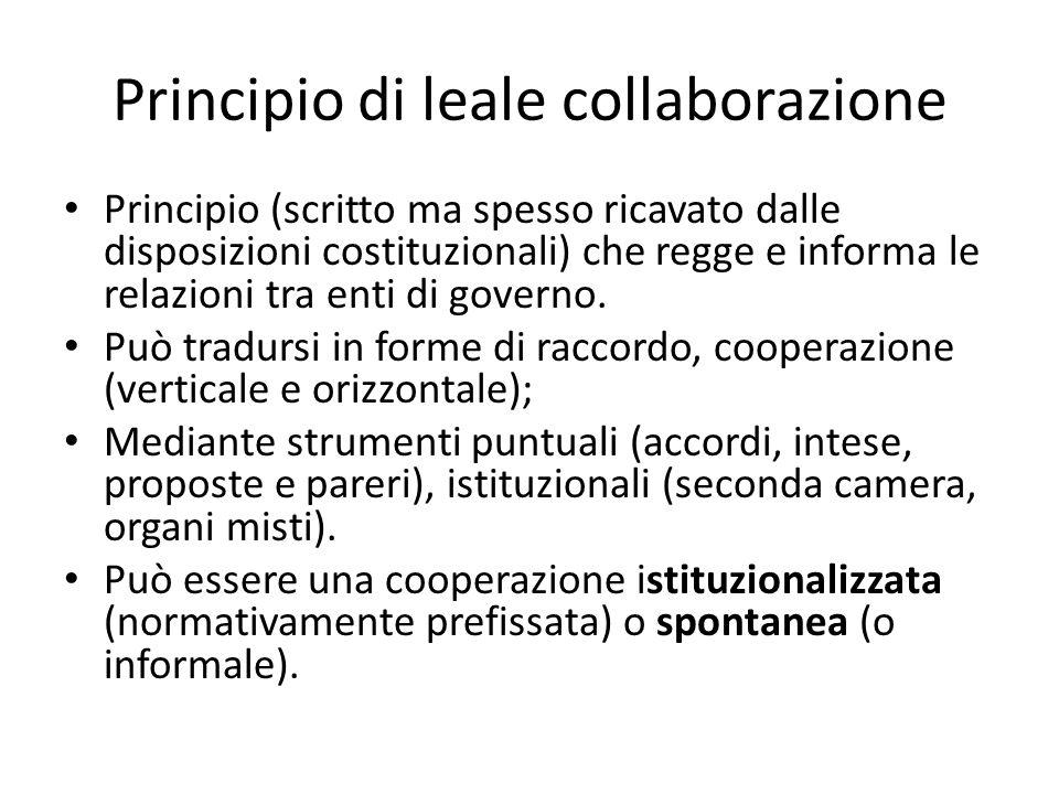 Principio di leale collaborazione