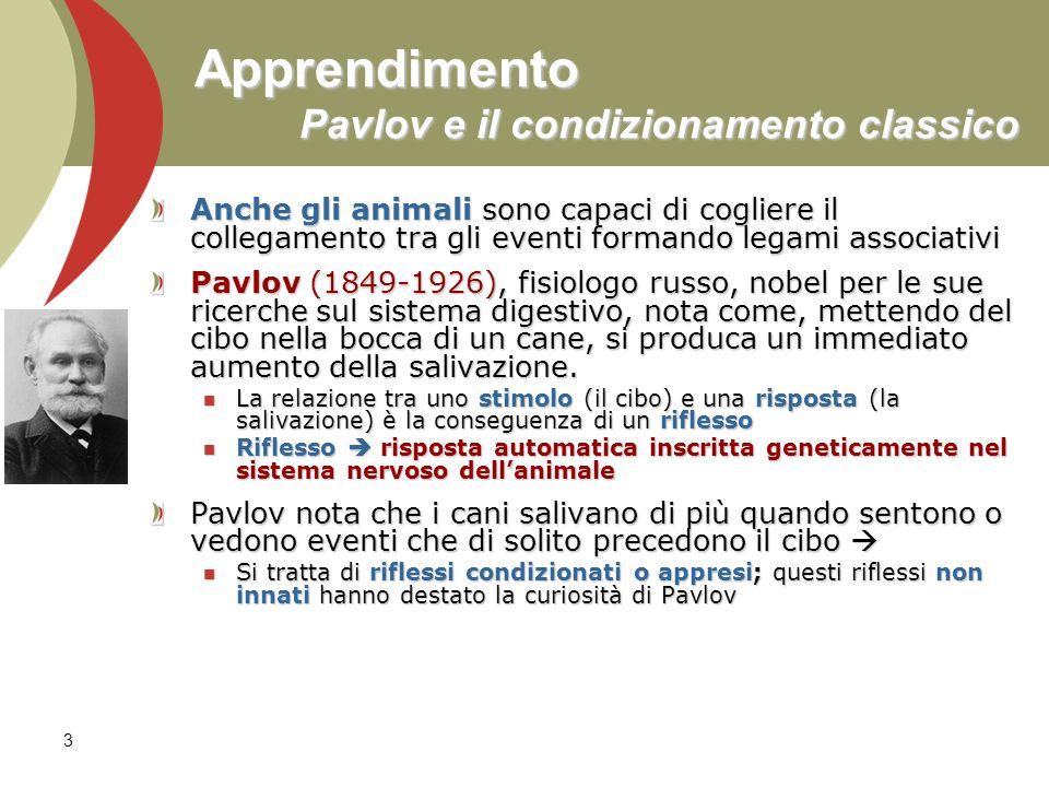 Apprendimento Pavlov e il condizionamento classico