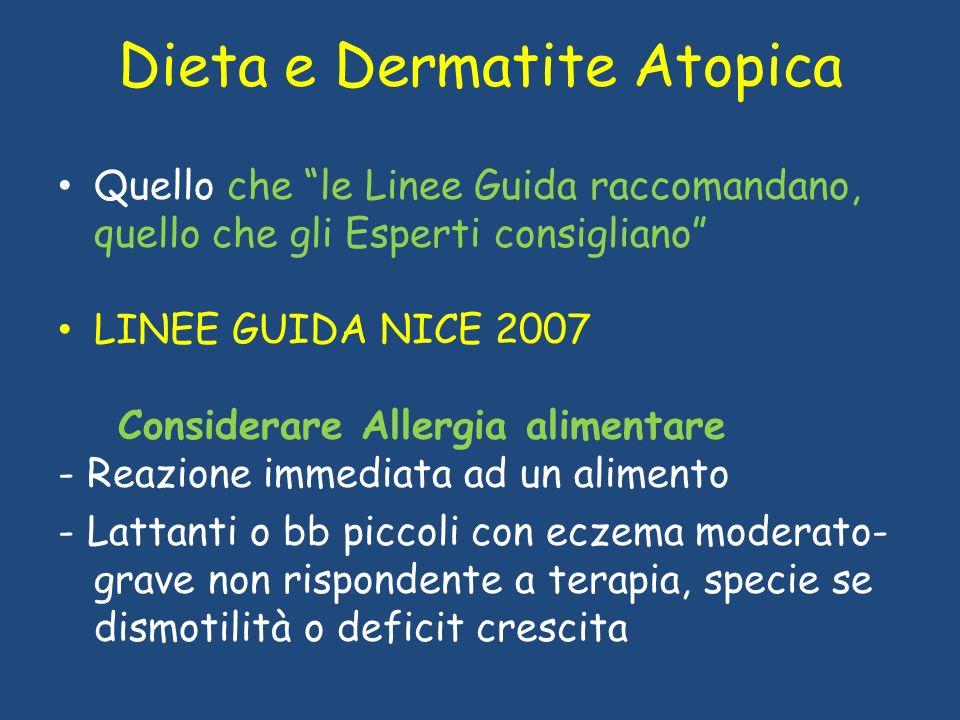 Dieta e Dermatite Atopica