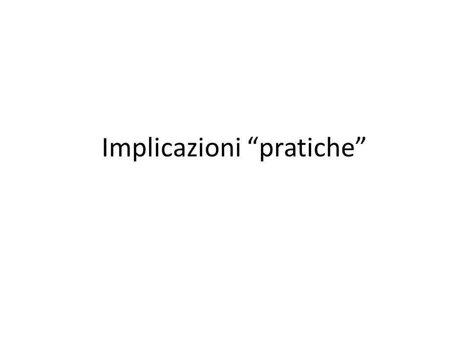 Implicazioni pratiche