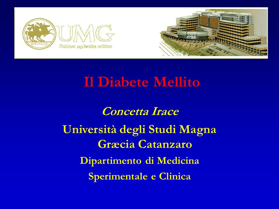 Il Diabete Mellito Concetta Irace