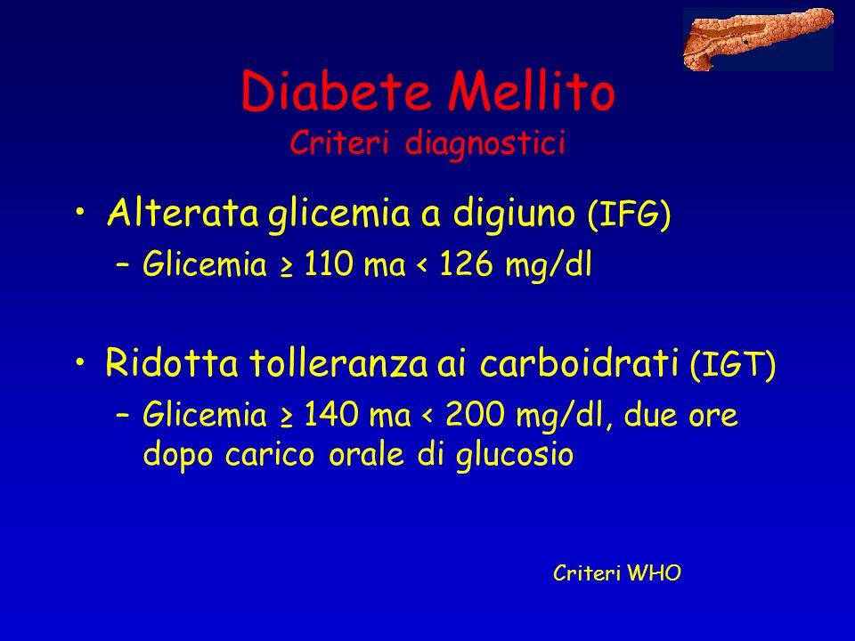 Diabete Mellito Criteri diagnostici