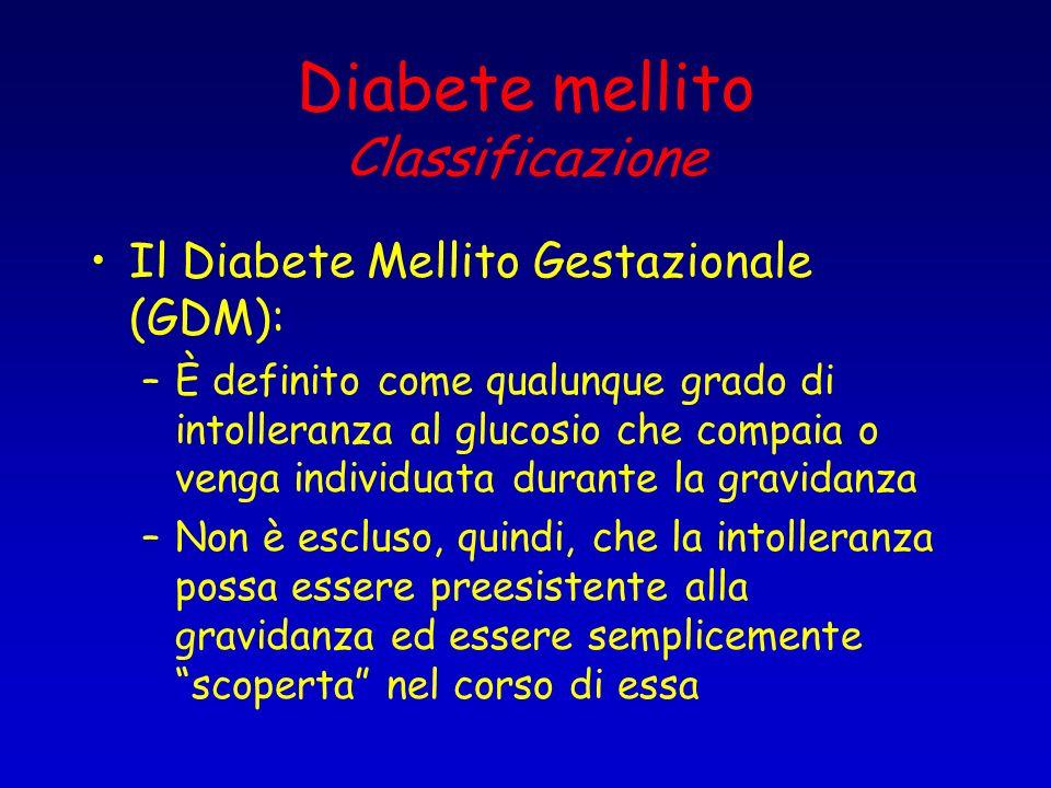 Diabete mellito Classificazione