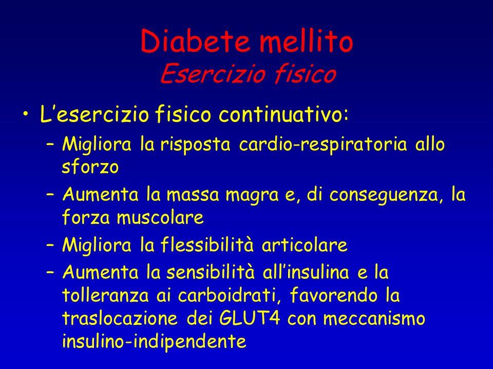 Diabete mellito Esercizio fisico