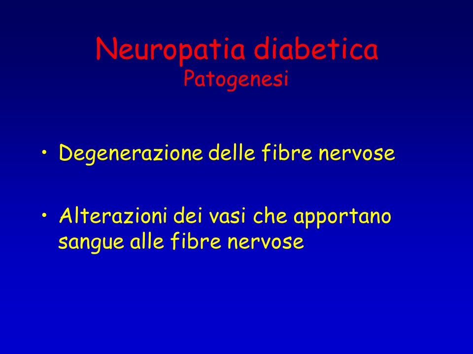 Neuropatia diabetica Patogenesi