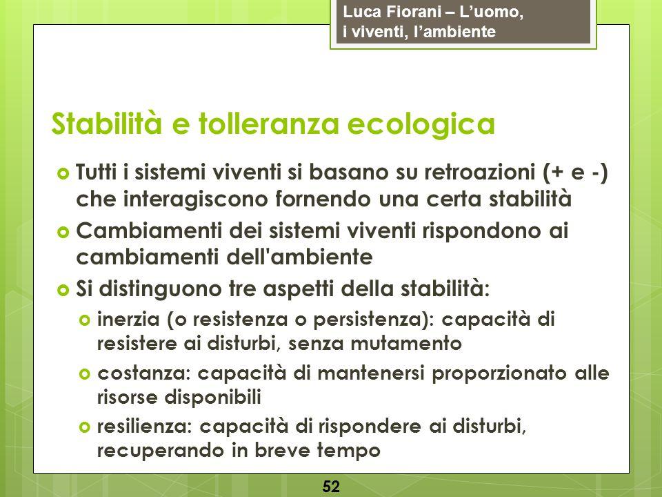 Stabilità e tolleranza ecologica