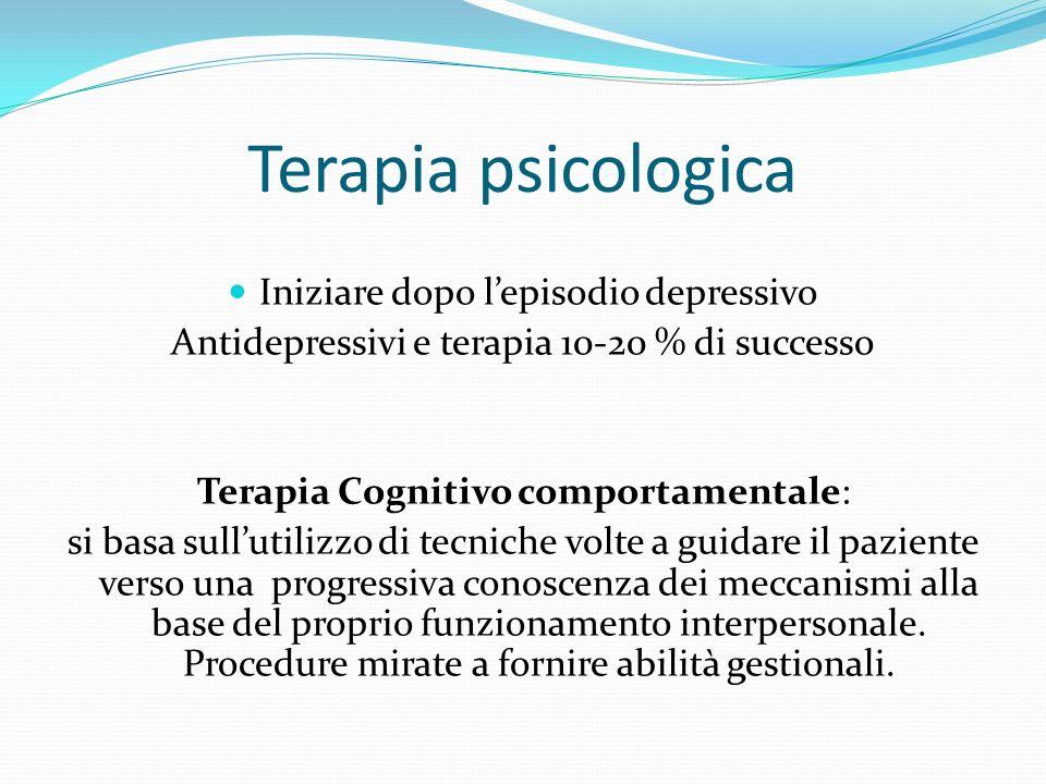 Terapia psicologica Iniziare dopo l'episodio depressivo