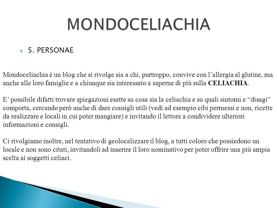 MONDOCELIACHIA 5. PERSONAE