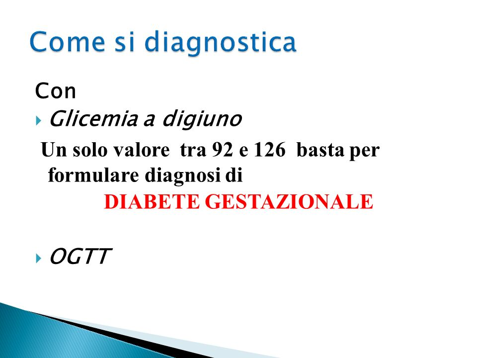 Come si diagnostica Con Glicemia a digiuno