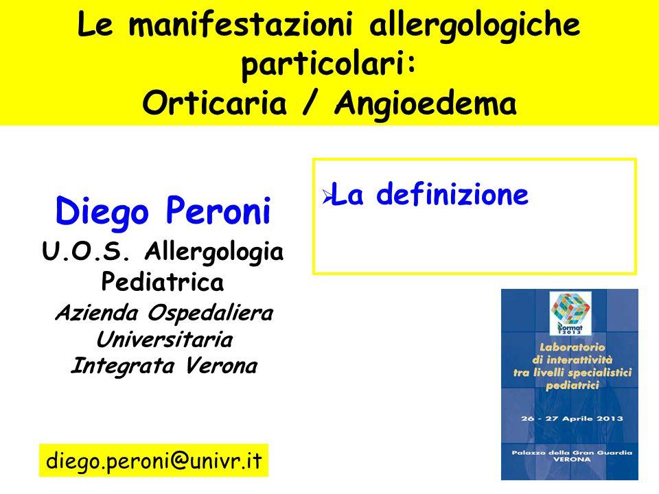 Diego Peroni Le manifestazioni allergologiche particolari: