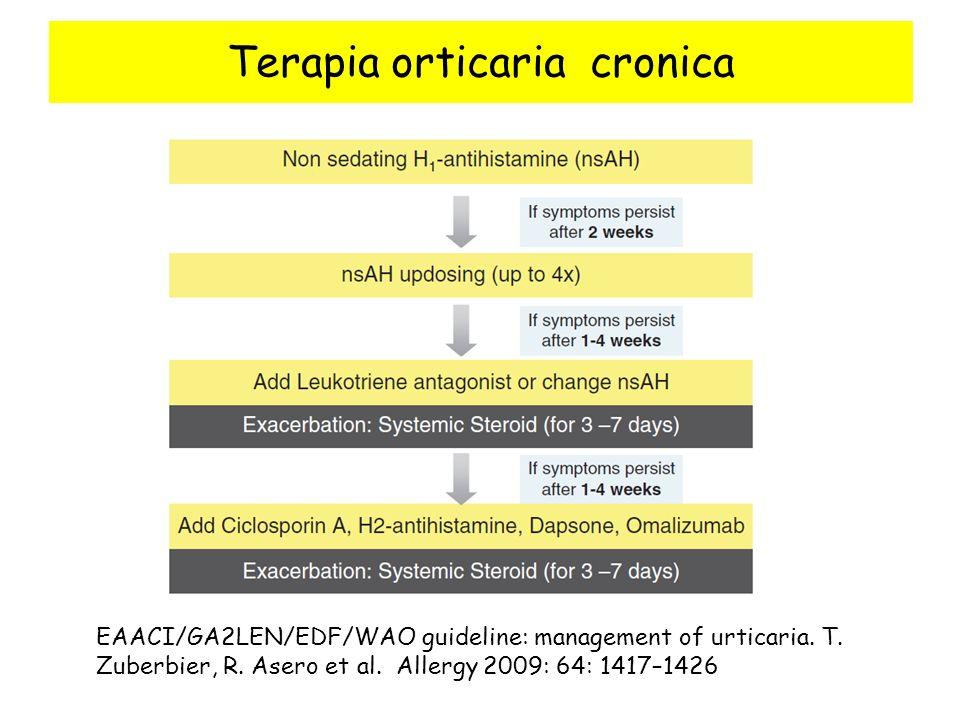 Terapia orticaria cronica