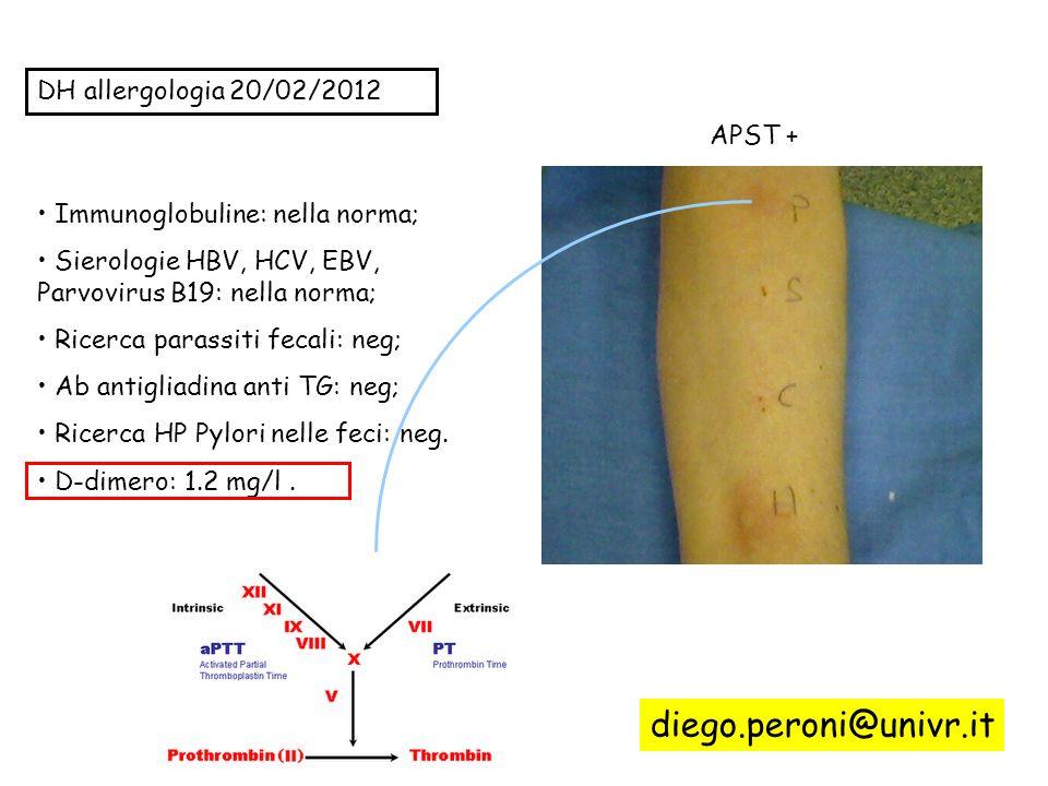 diego.peroni@univr.it DH allergologia 20/02/2012 APST +