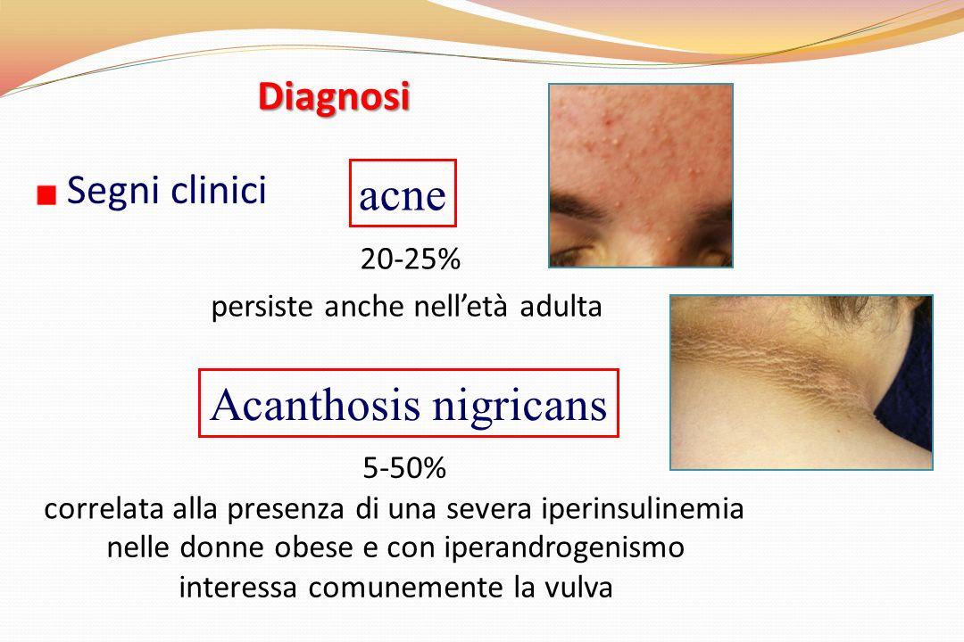 correlata alla presenza di una severa iperinsulinemia