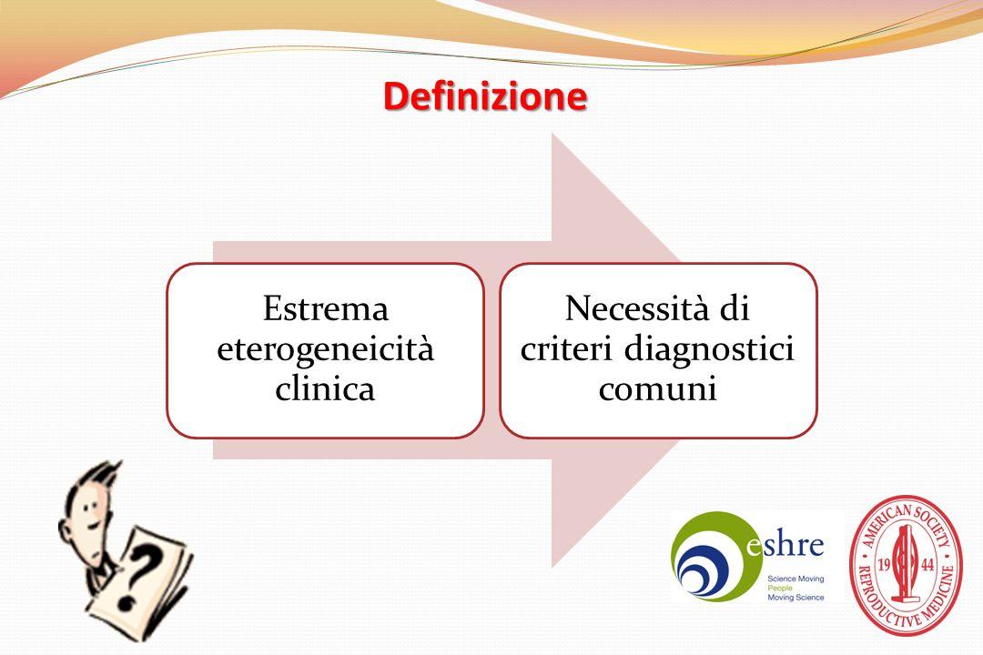 Definizione Estrema eterogeneicità clinica
