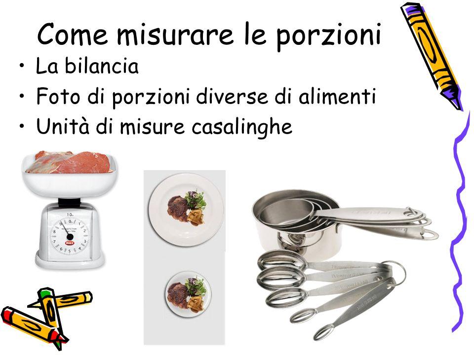 Come misurare le porzioni