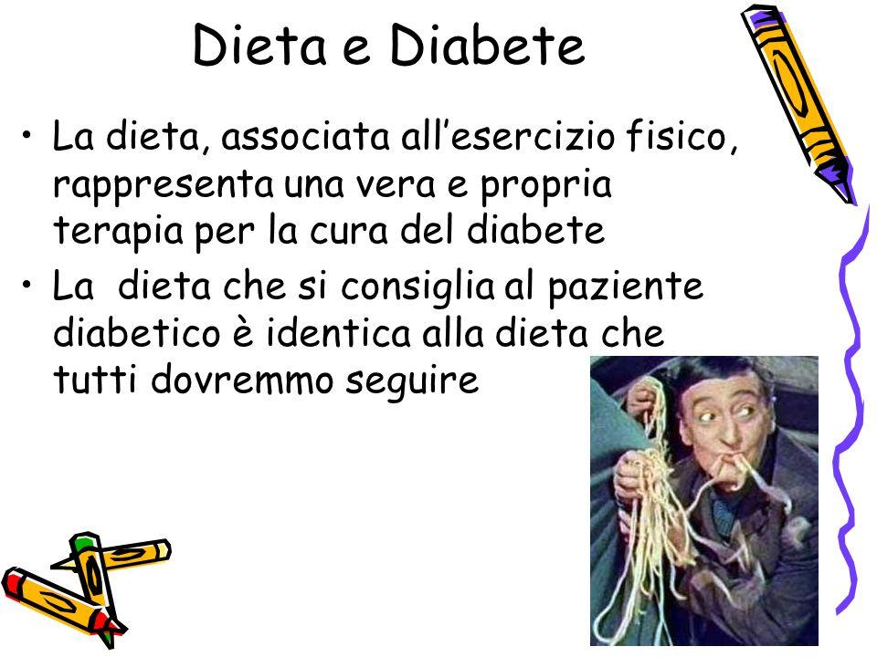 Dieta e Diabete La dieta, associata all'esercizio fisico, rappresenta una vera e propria terapia per la cura del diabete.