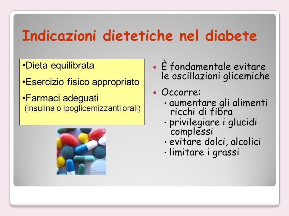 Indicazioni dietetiche nel diabete