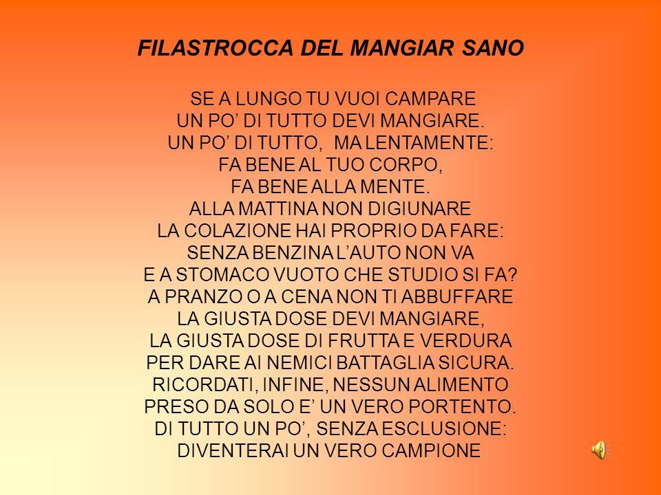 FILASTROCCA DEL MANGIAR SANO