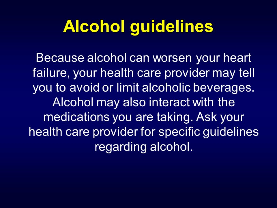 Alcohol guidelines
