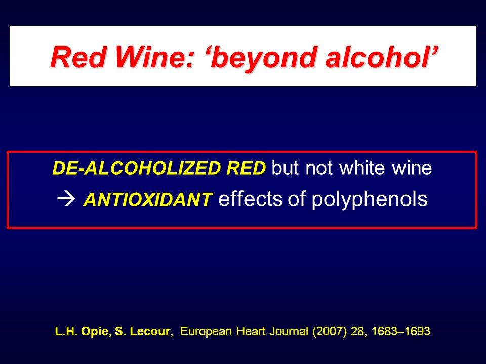 Red Wine: 'beyond alcohol'