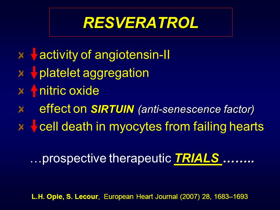 RESVERATROL activity of angiotensin-II platelet aggregation