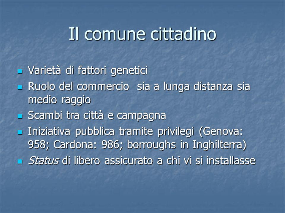 Il comune cittadino Varietà di fattori genetici