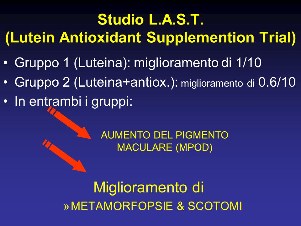 Studio L.A.S.T. (Lutein Antioxidant Supplemention Trial)