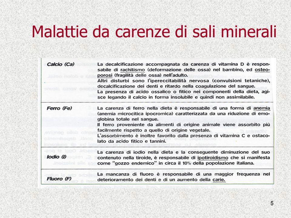 Malattie da carenze di sali minerali