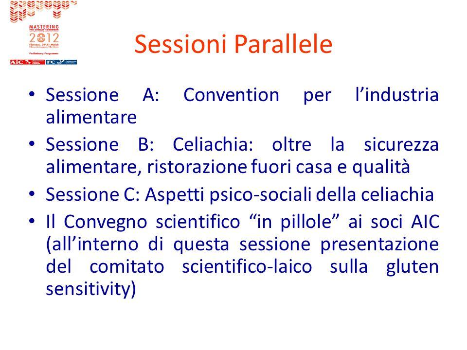 Sessioni Parallele Sessione A: Convention per l'industria alimentare
