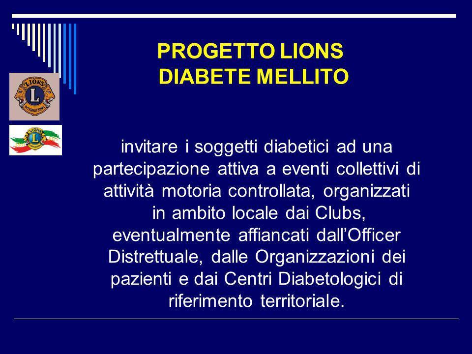 PROGETTO LIONS DIABETE MELLITO