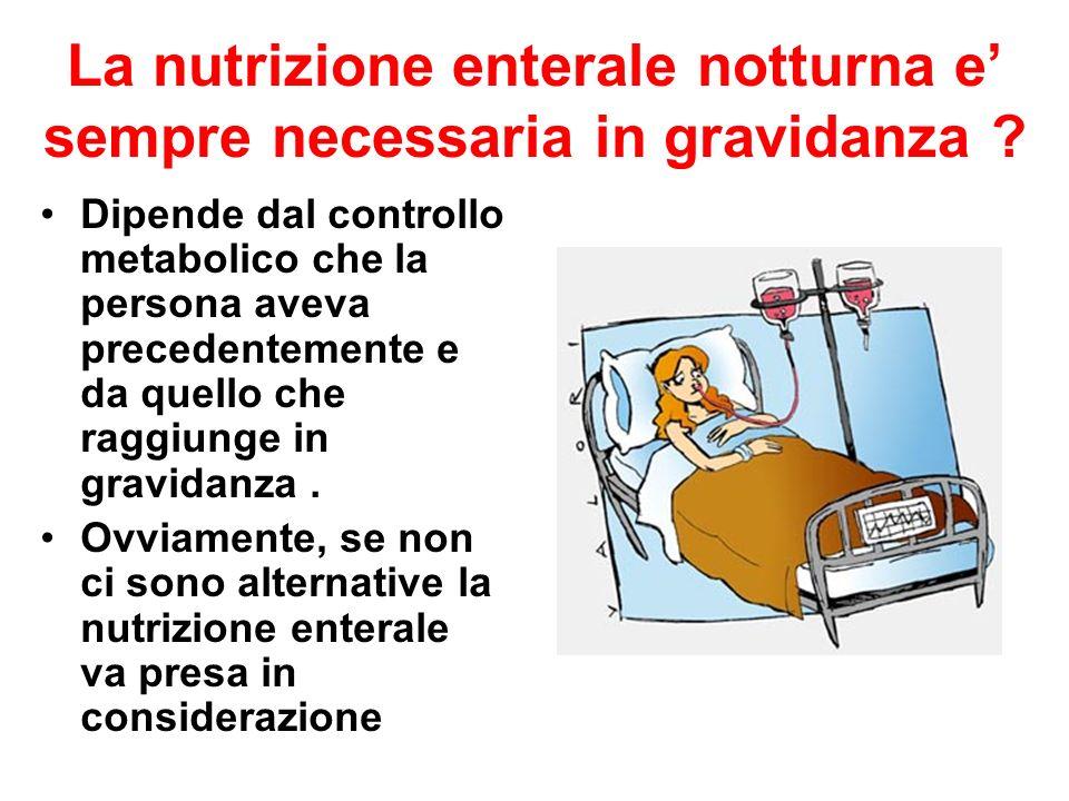 La nutrizione enterale notturna e' sempre necessaria in gravidanza