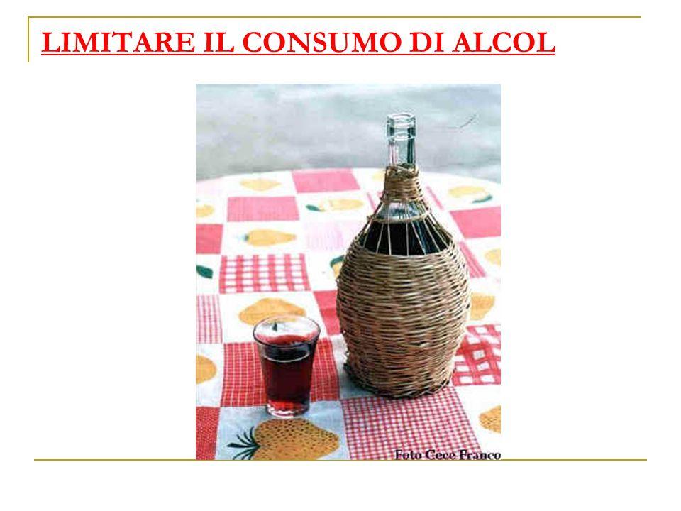 LIMITARE IL CONSUMO DI ALCOL