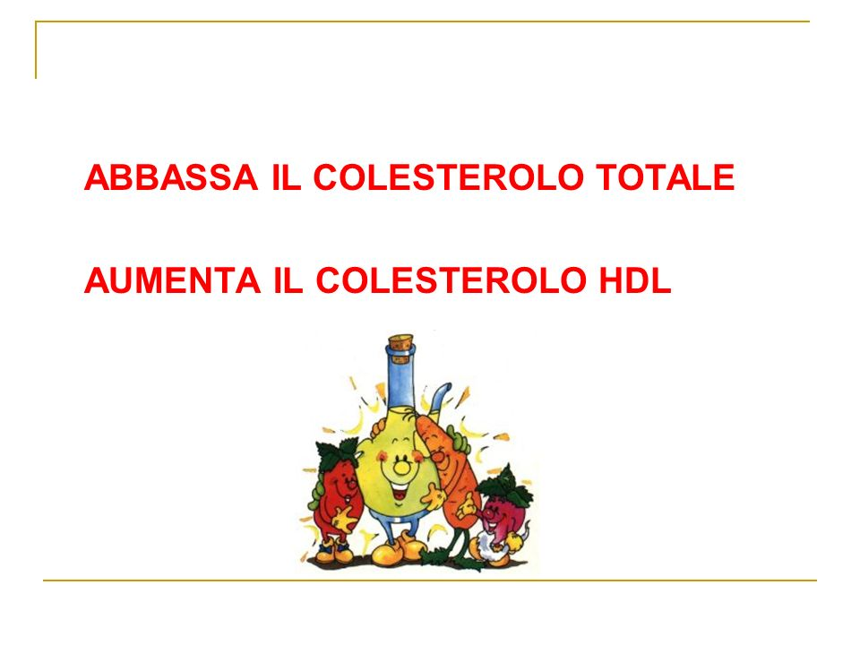 ABBASSA IL COLESTEROLO TOTALE