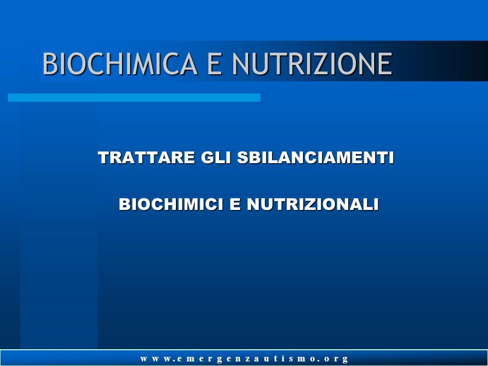 BIOCHIMICA E NUTRIZIONE