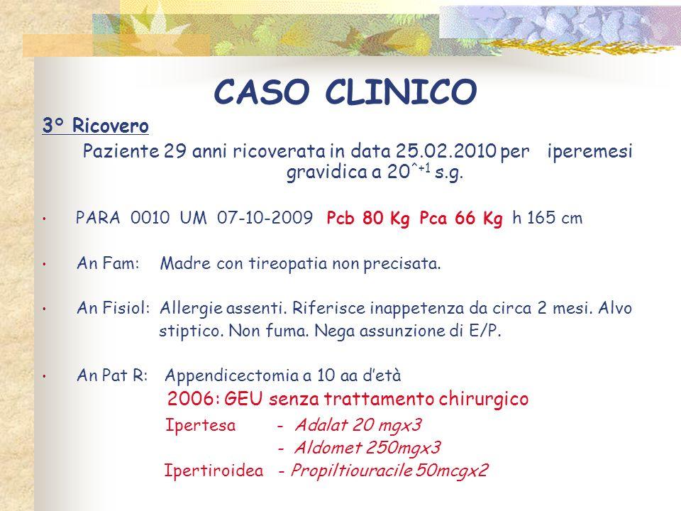 CASO CLINICO 3° Ricovero