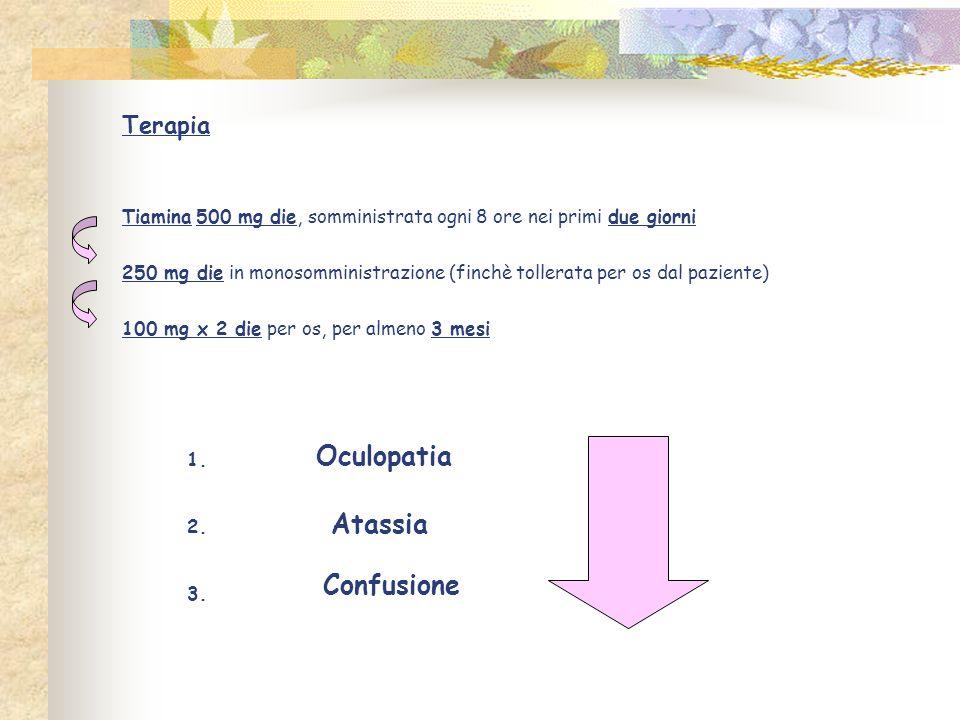 Oculopatia Atassia Confusione Terapia