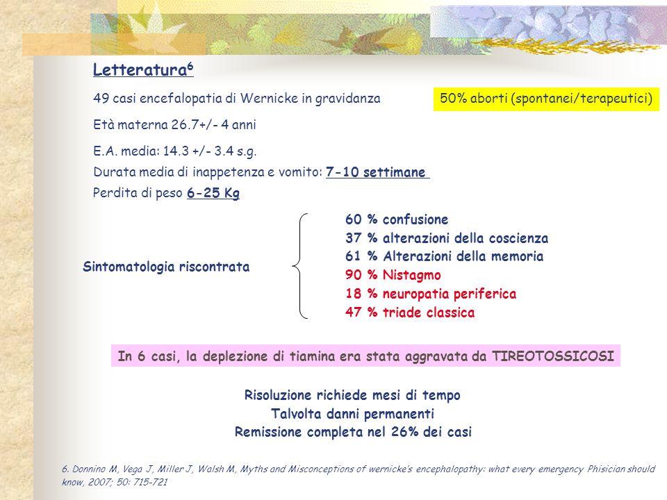 Letteratura6 49 casi encefalopatia di Wernicke in gravidanza