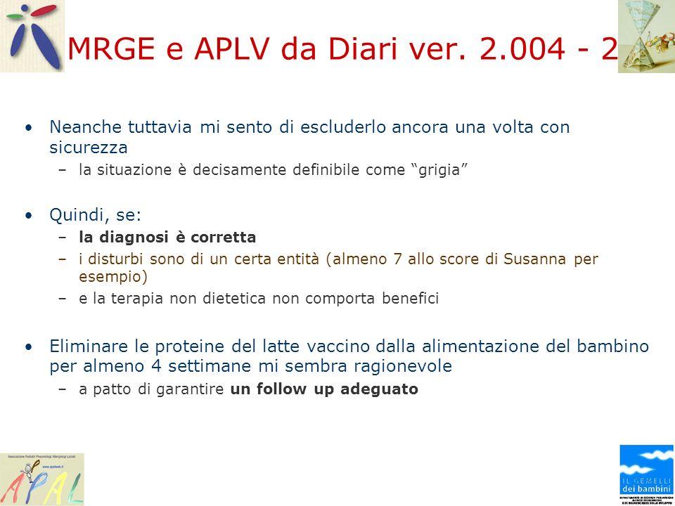 MRGE e APLV da Diari ver. 2.004 - 2