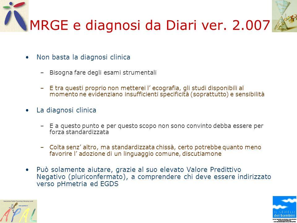 MRGE e diagnosi da Diari ver. 2.007