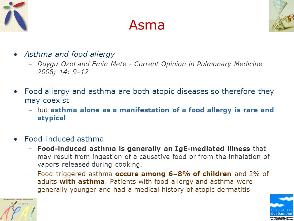 Asma Asthma and food allergy