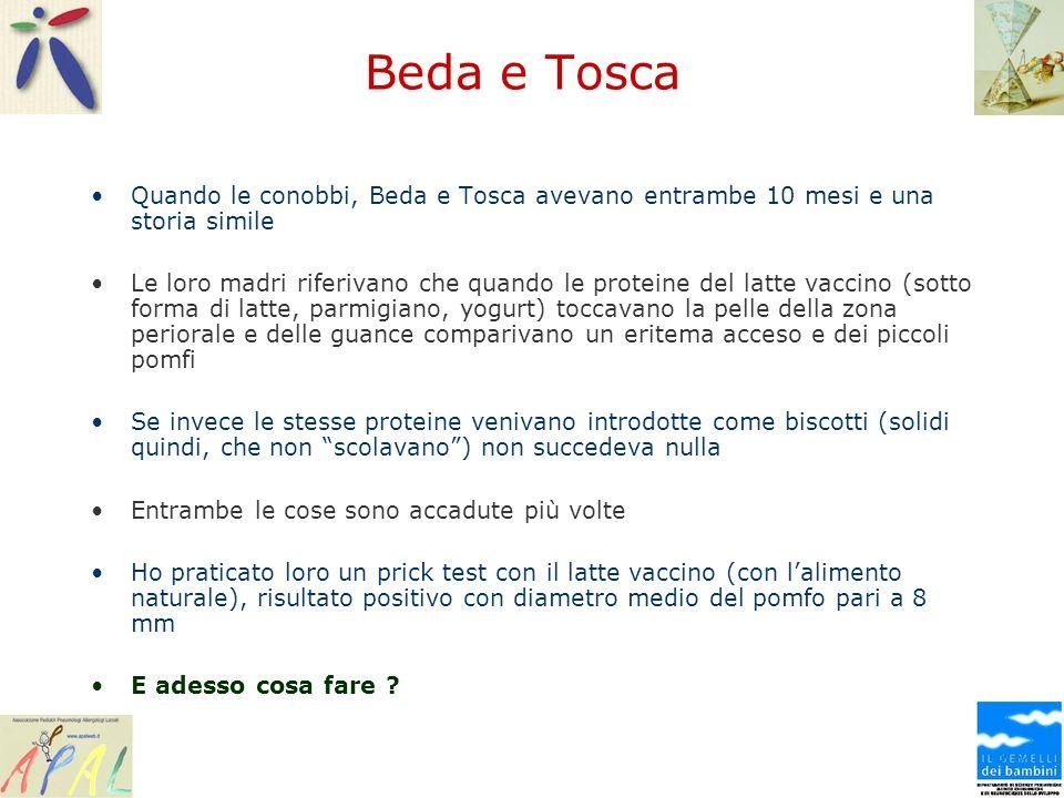 Beda e Tosca Quando le conobbi, Beda e Tosca avevano entrambe 10 mesi e una storia simile.