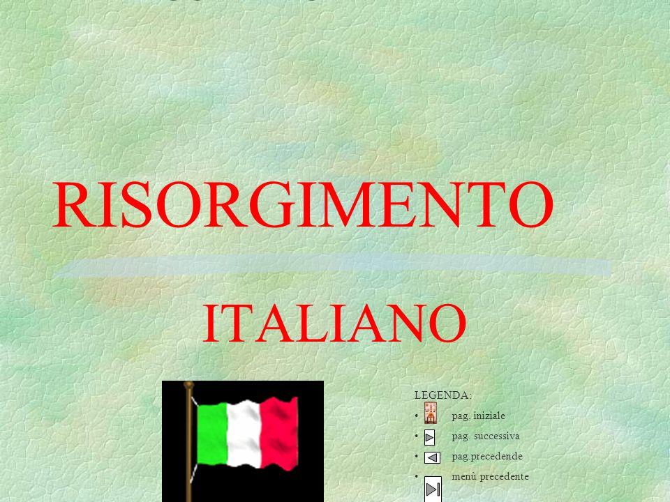RISORGIMENTO ITALIANO LUCIANO DI CORALLO A CURA LEGENDA: pag. iniziale